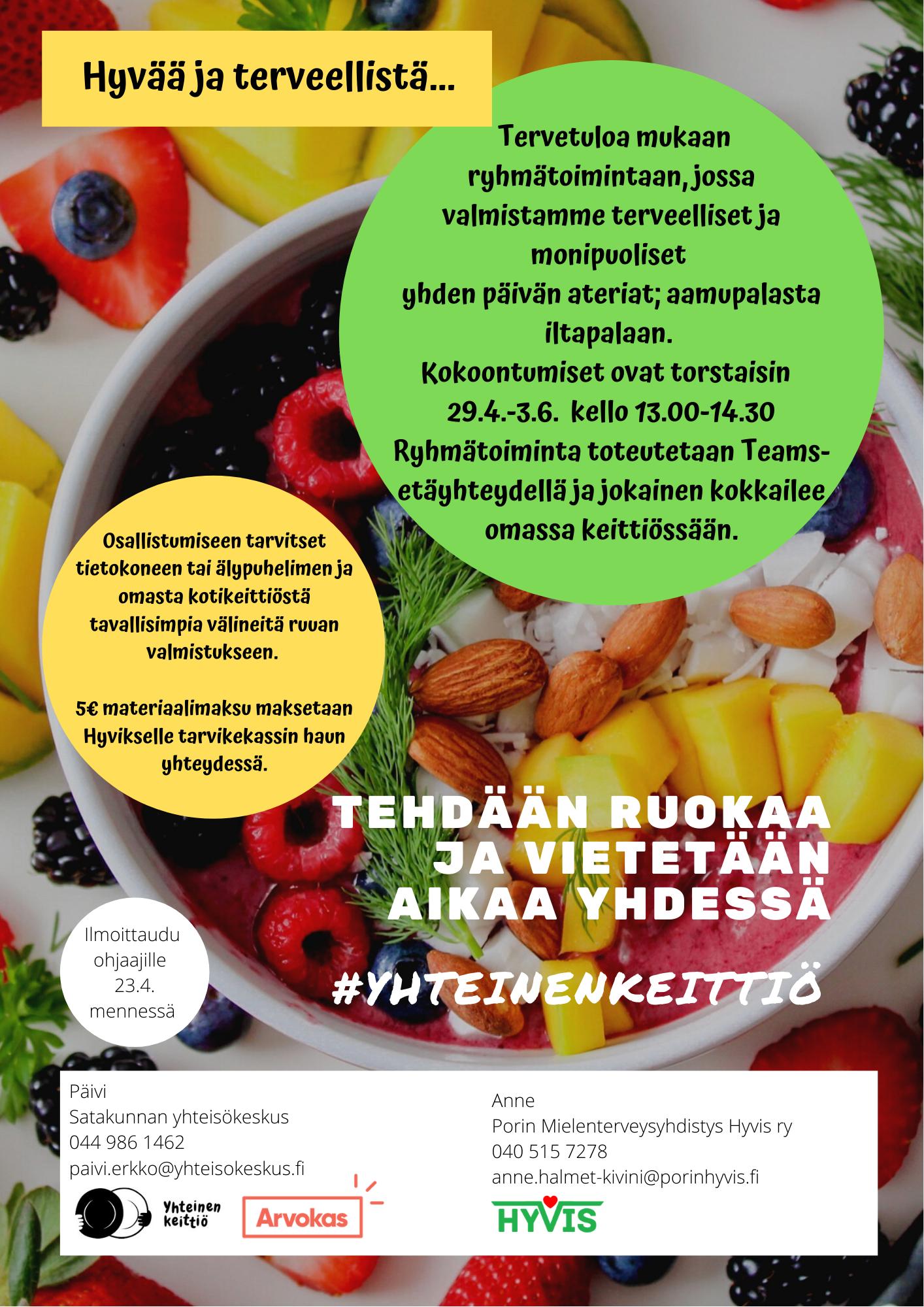 Terveellinen ruokavalio etäryhmä